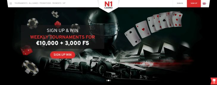 N1 Casino home page