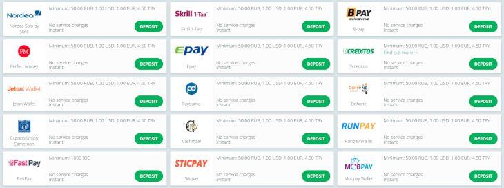 22bet betalningsalternativ