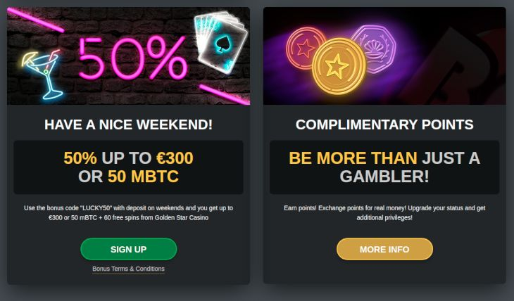GoldenStar Casino promotions