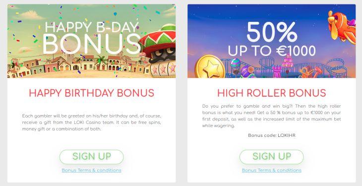 Loki Casino promotions
