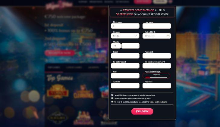 Hur man registrerar sig på VegasPlus
