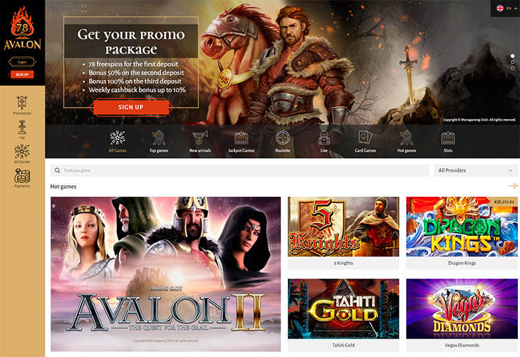 Avalon78 home page