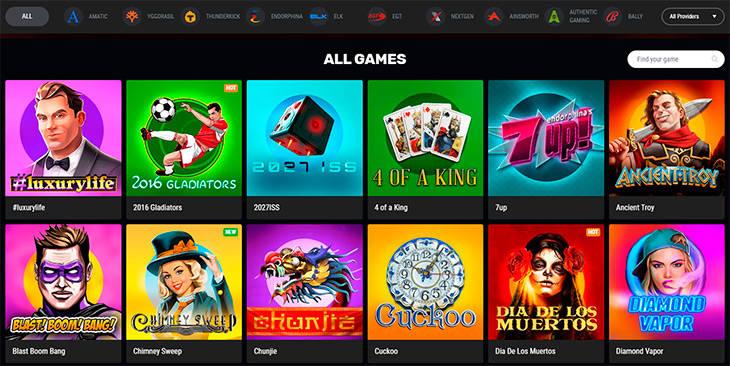 Betamo Casino spelutbudet