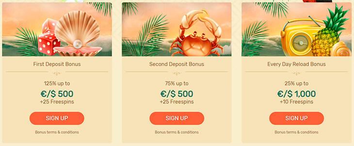 Paradise Casino promotions