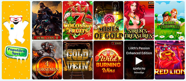 Ridika Casino spelutbud