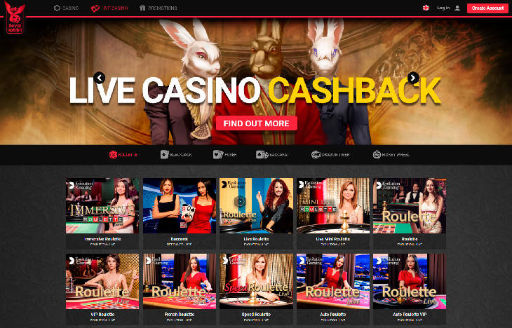 Royal Rabbit Live Casino