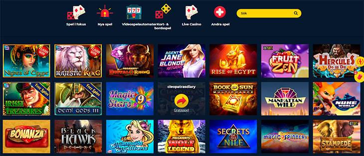 SpinUp Casino spelutbud