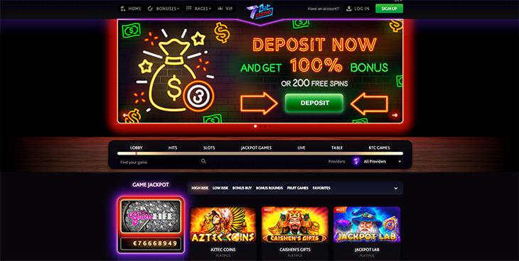 7Bit Casino stil och design