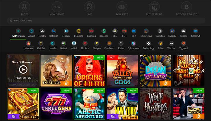 Fastpay Casino spelutbud