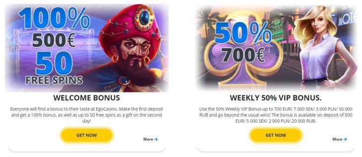Ego Casino välkomstbonus