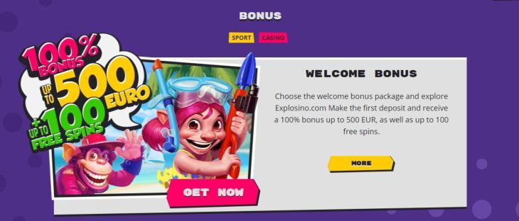 Explosion Casino bonus